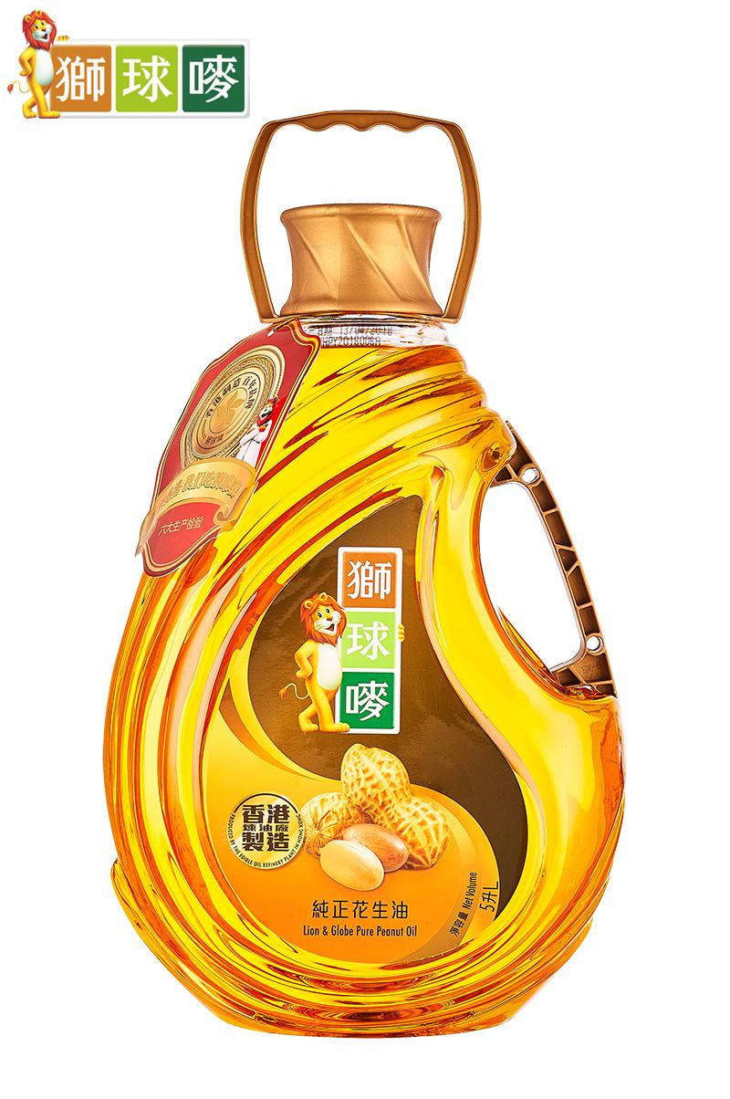 狮球唛花生油5L 香港制造 进口粮油  多省包邮  物理压榨 食用油