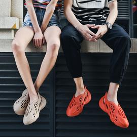 delomio椰子洞洞鞋男ins新款罗马男士沙滩鞋梅西同款休闲运动凉鞋