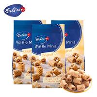 Bahlsen百乐顺德国进口迷你华夫卷饼干办公室小吃休闲零食75gx3包 (¥43)