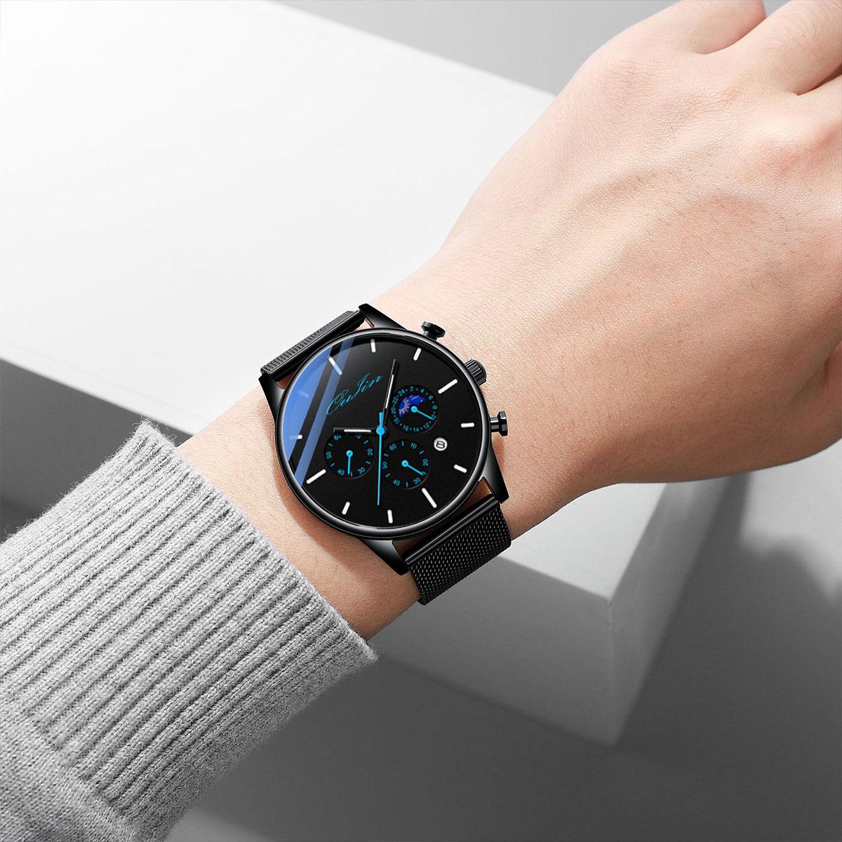 新概念手表男士全自动机械表高中学生运动潮流电子防水夜光石英表