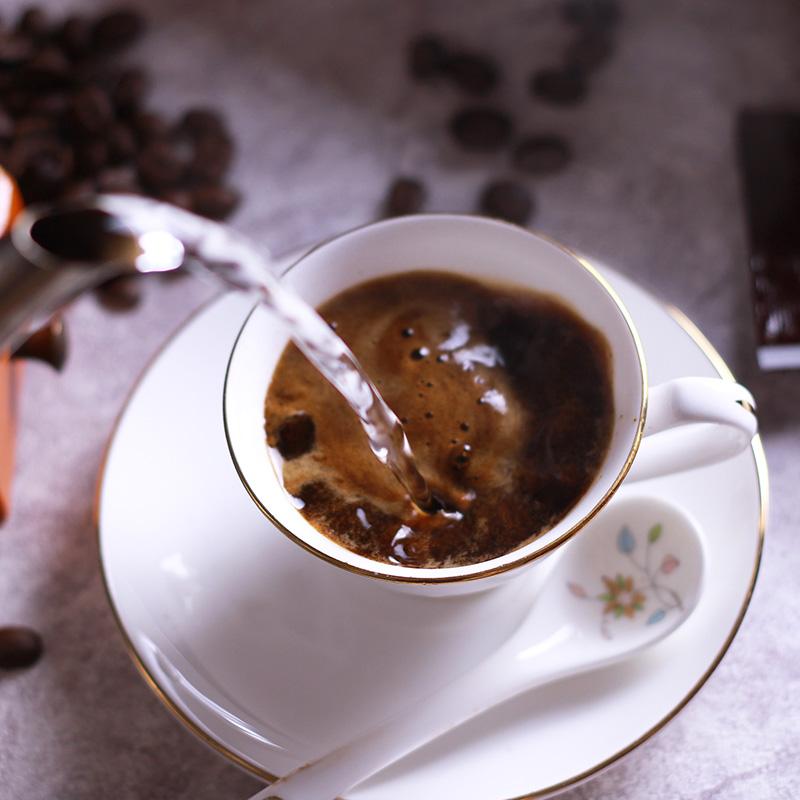 送杯云南小粒美式纯黑咖啡粉速溶无糖减消肿提神正品学生防困