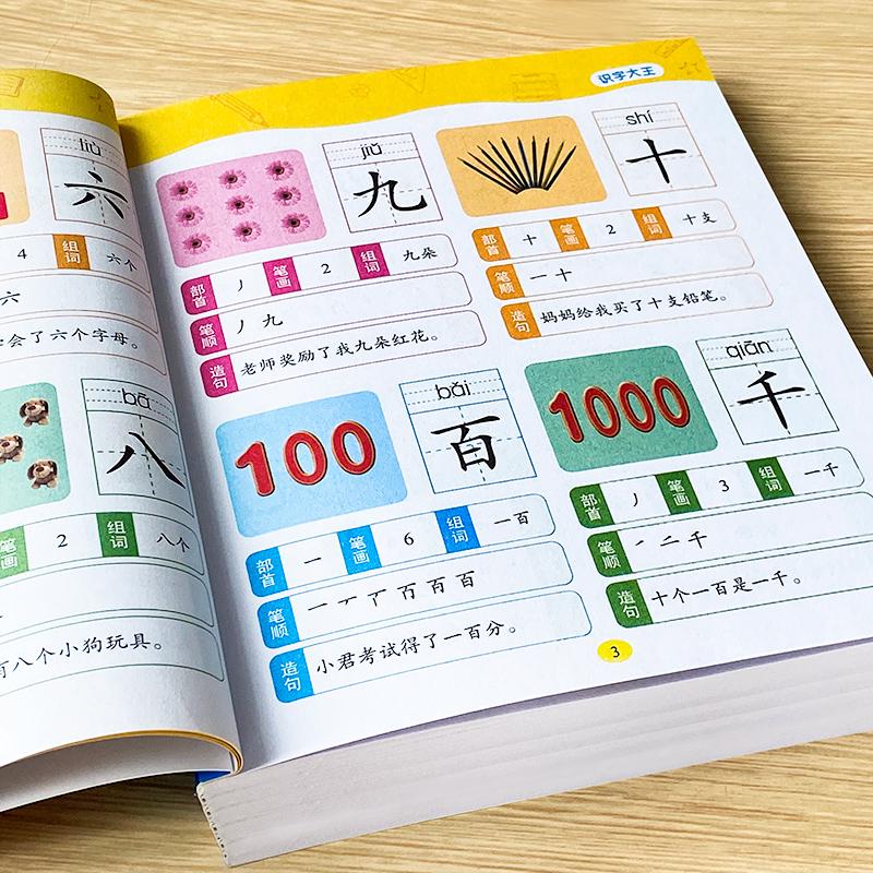 识字大王1400字幼儿园学前看图识字2-6岁儿童宝宝认字早教书