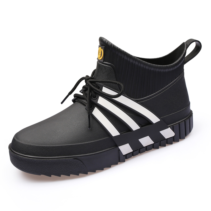 时尚雨鞋男加绒秋冬保暖水鞋男雨靴短筒胶鞋防水轻便户外洗车套鞋