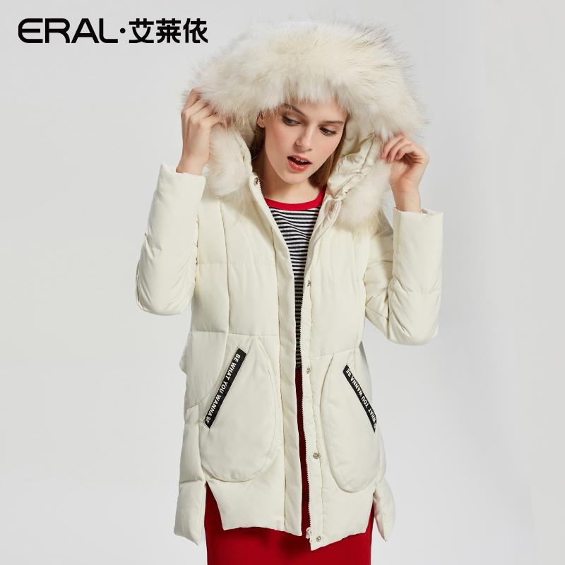 型羽绒服女中长款外套潮 A 冬简约 2017 艾莱依 ERAL 折 5 件 4