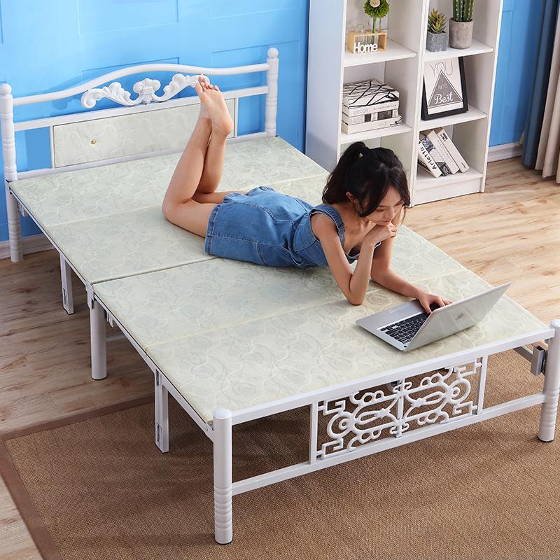 米午睡床木板床铁床 1.5 米 1.2 好运客折叠床单人床家用简易床双人床