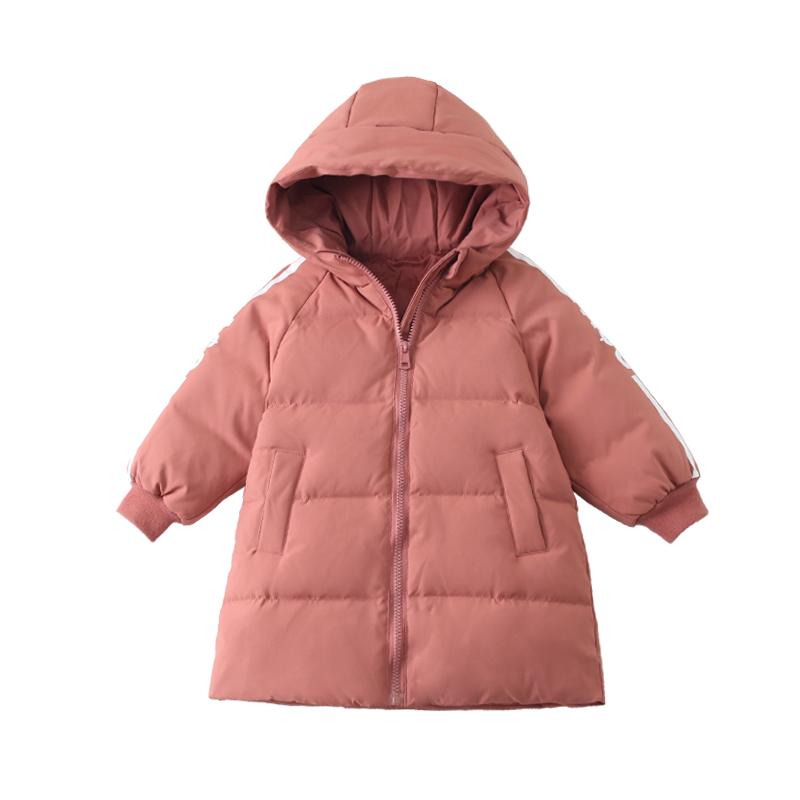 儿童羽绒服男童中长款白鸭绒 2019新款女童冬装洋气外套加厚韩版