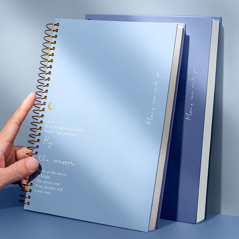 b5笔记本子简约大学生文艺精致个性创意网红活页女生款加厚记事本线圈本简约大学生超厚大号高中生用