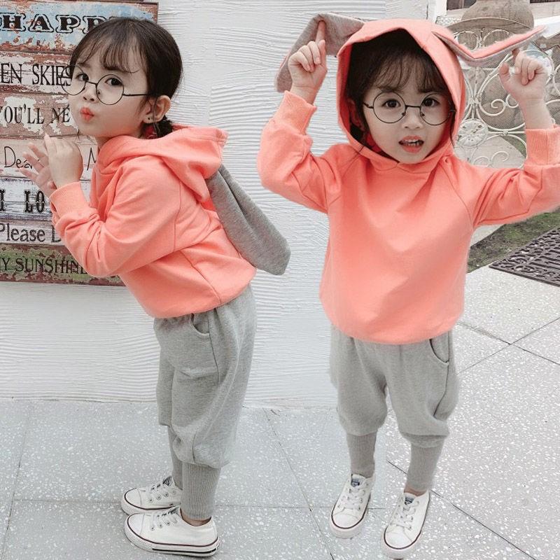 女童春秋套装1-2-3-4岁宝宝秋装卫衣婴幼儿童韩版两件套小孩衣服5