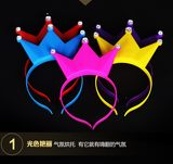Crown flash headband hairpin hairpin children's hair bands headband concert night market
