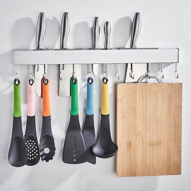 廚房掛鉤放刃架置物架菜刃具砧板鍋鏟勺子用品收納式壁掛架免打孔