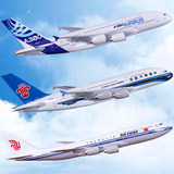 Airlines custom simulation aircraft model Airbus a380 China Southern Air Boeing passenger plane model aircraft prototype b747 ornaments