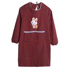 长袖围裙罩衣老粗布纯棉麻反穿清洁厨房家用成人时尚韩版大人加肥
