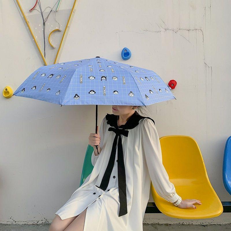雨伞全自动可爱遮阳伞三折叠太阳伞防晒防紫外线雨伞女晴雨两用 - 图1