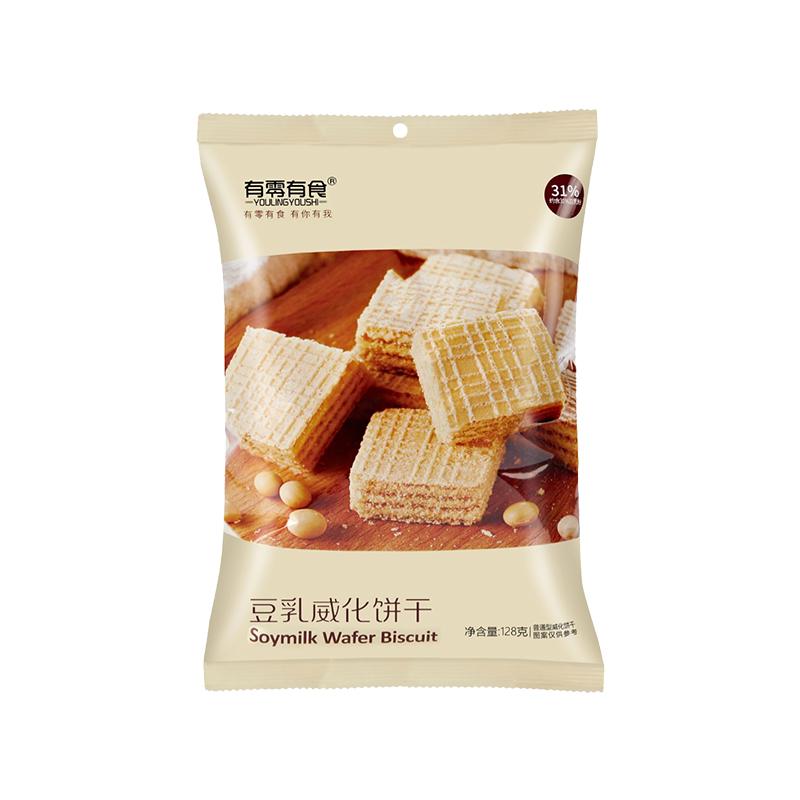 有零有食豆乳威化饼干网红健康休闲零食夹心茶点早餐威化饼小包装 No.4