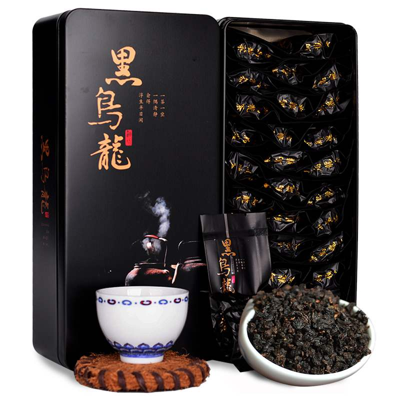250g 黑乌龙茶木炭技法茶多酚油切黑乌龙浓香型乌龙茶