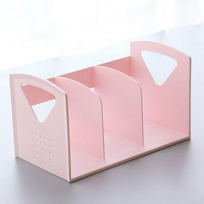 架简约现代桌上书本文件简易架创意桌面书架收纳塑料儿童桌面实用