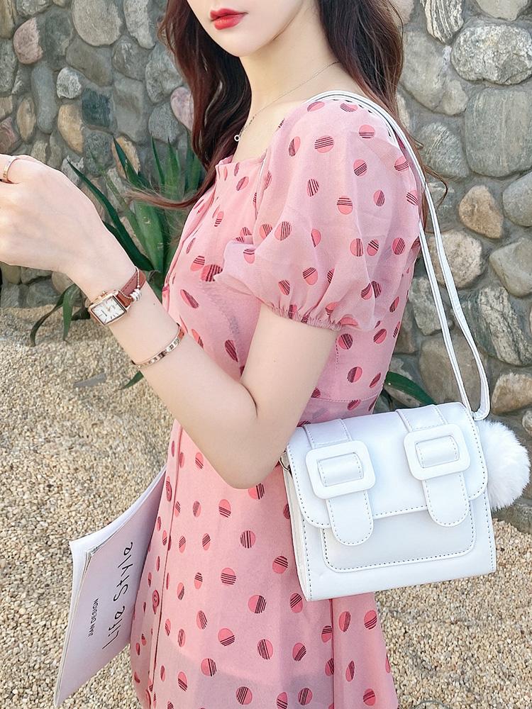 泰国mini剑桥包2020新款潮小包包迷你百搭斜挎邮差包火龙果色女包