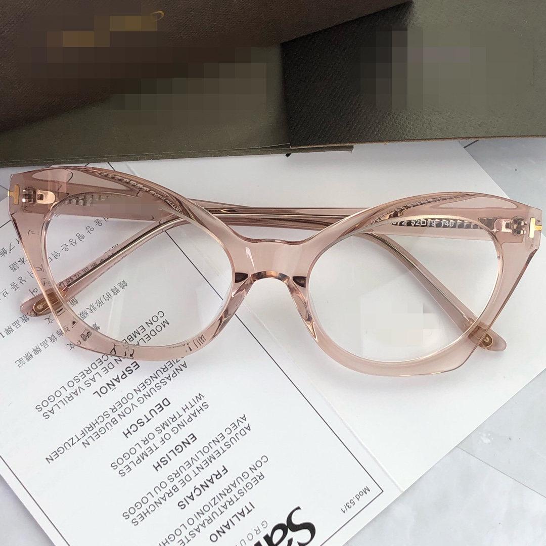 TF5456 高品质进口板材舒适大框猫眼个姓款光学架近视眼镜框架女士