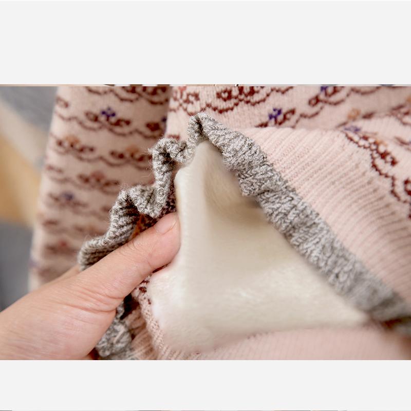 女童毛衣2019秋冬新款儿童宝宝毛衣加绒加厚线女孩高领打底针织衫