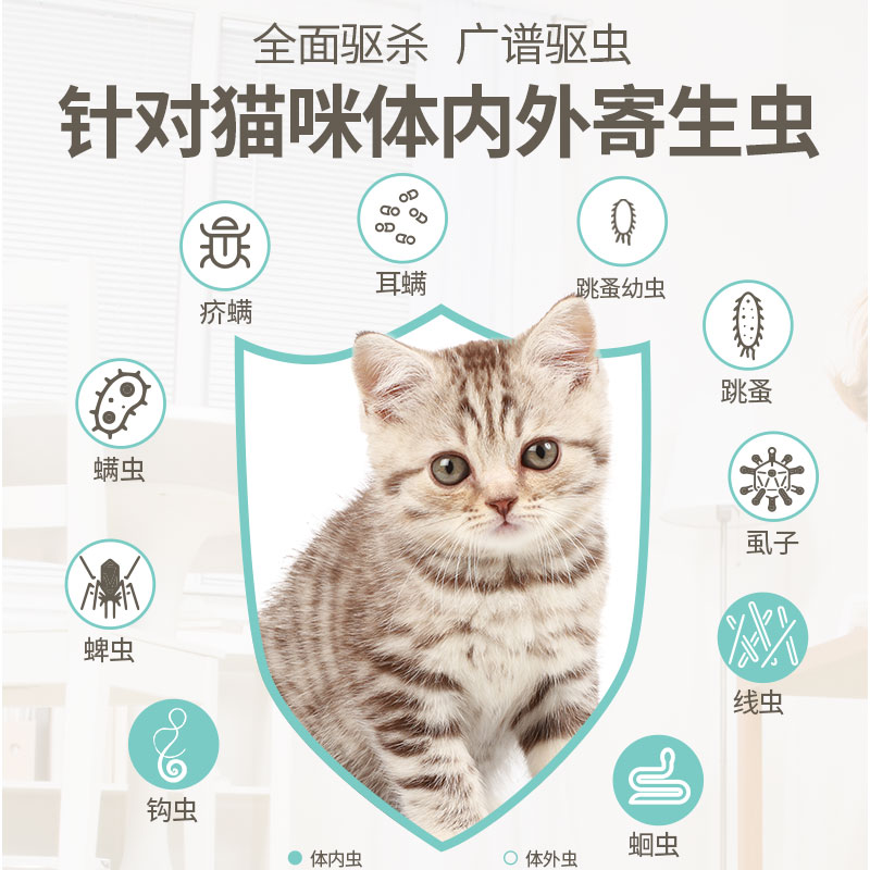 驱虫药猫专用猫咪滴剂