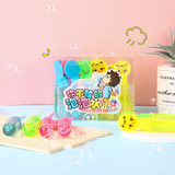 Small mini boxed cartoon bubble wand toy portable Bubble blowing bubble gum does not break easily break