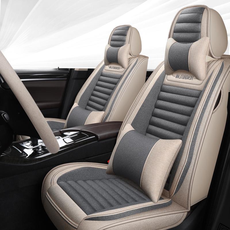 新款汽车坐垫四季通用全包围车坐垫垫子坐垫座套布艺座椅座套座垫