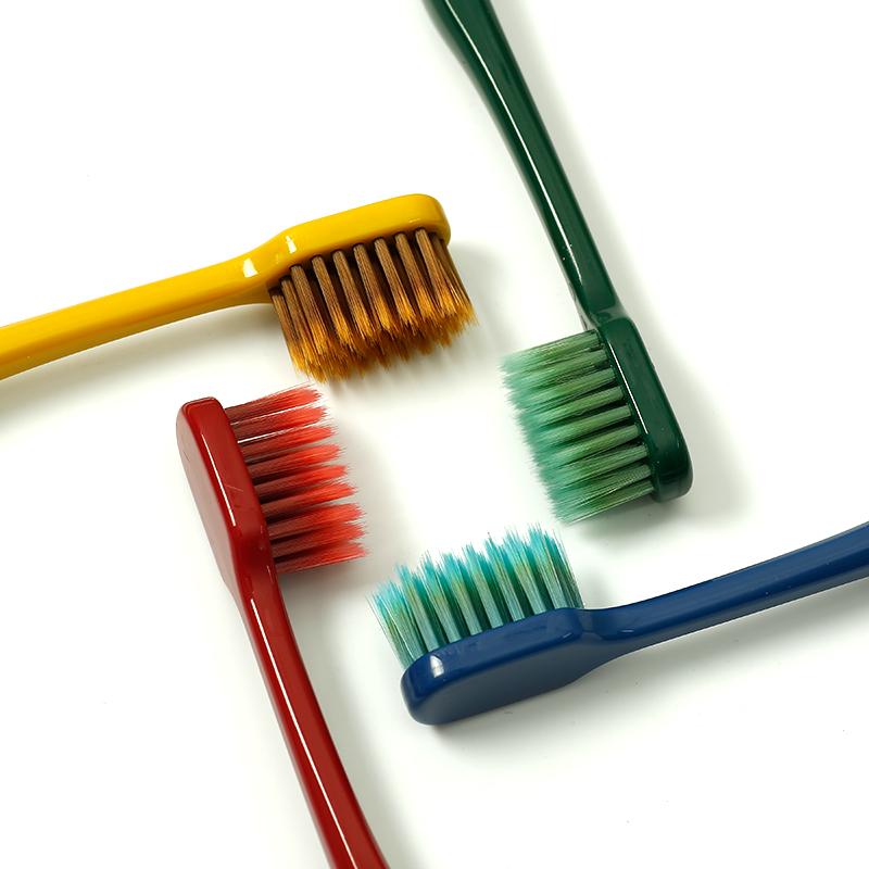韩国MOLAR SHINE成人情侣牙刷4支装细软毛宽头竹炭家庭装网红人气