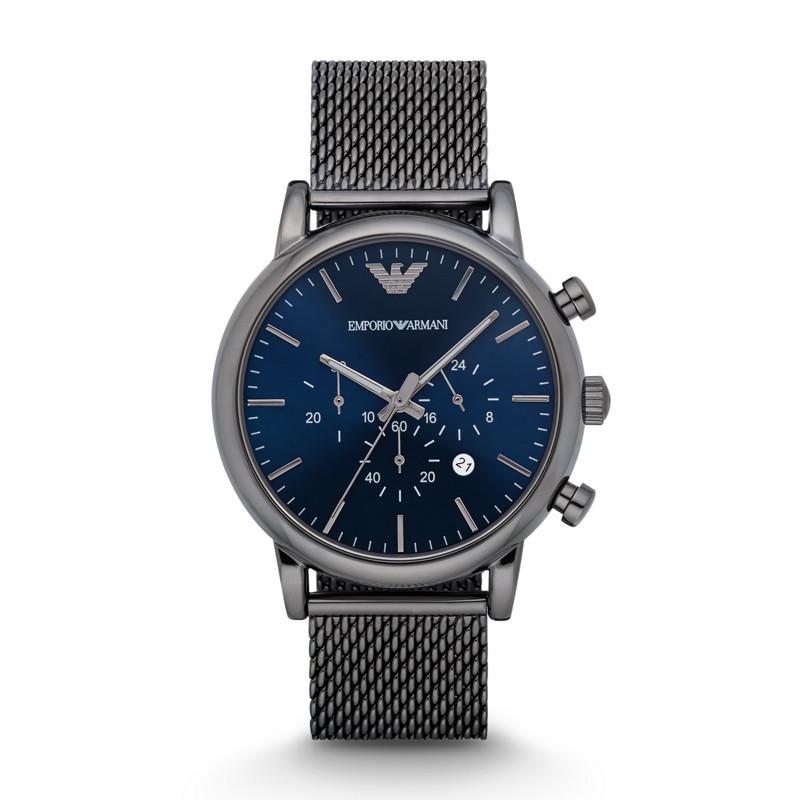 Armani 阿玛尼休闲商务时尚石英男表欧美复古钢带手表男AR1979