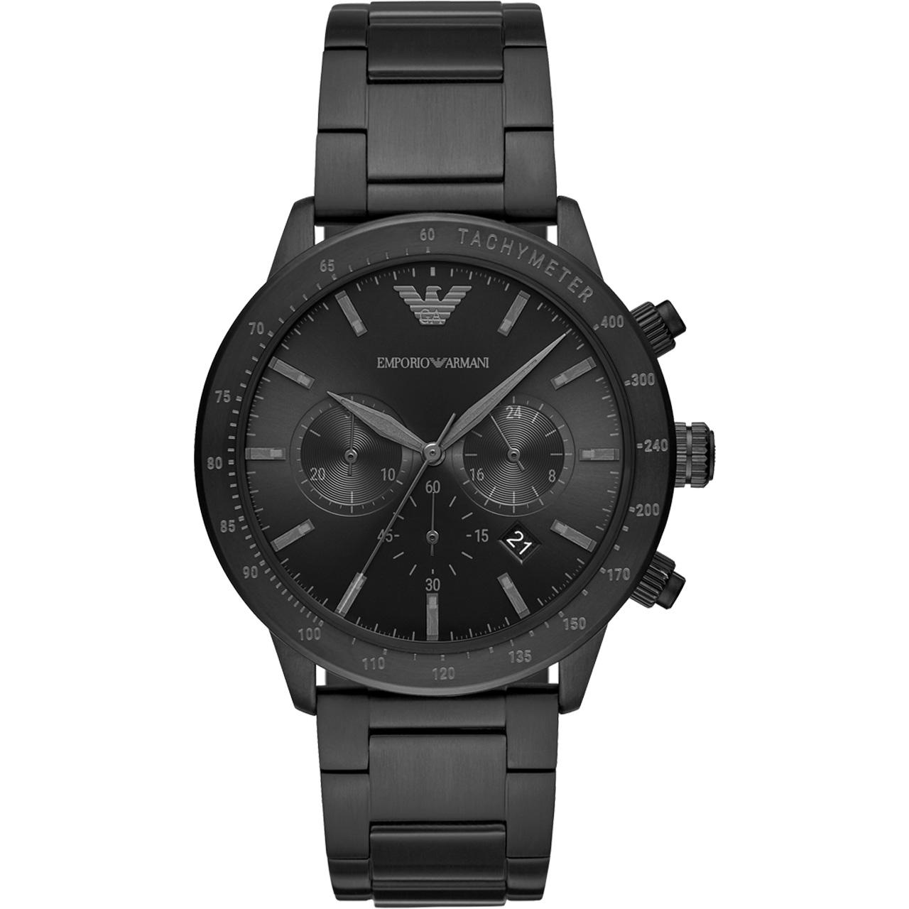 Emporio Armani阿玛尼手表男 时尚运动酷黑钢带石英男表AR11242