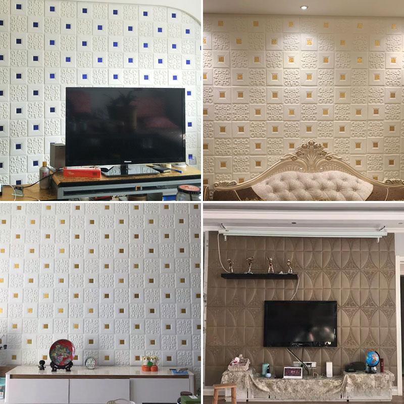 立体墙贴纸天花板吊顶卧室床头背景墙面自装泡沫墙壁纸 3d 墙纸自粘