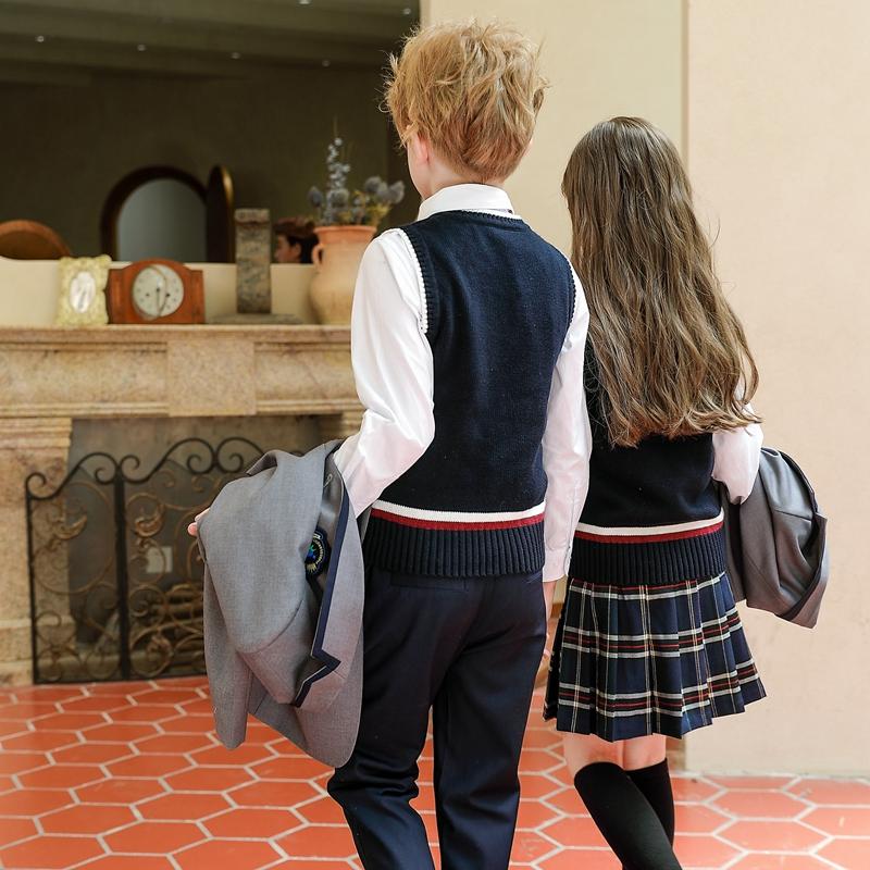 幼儿园园服春秋装英伦学院风三件套儿童西服套装中小学生校服礼服