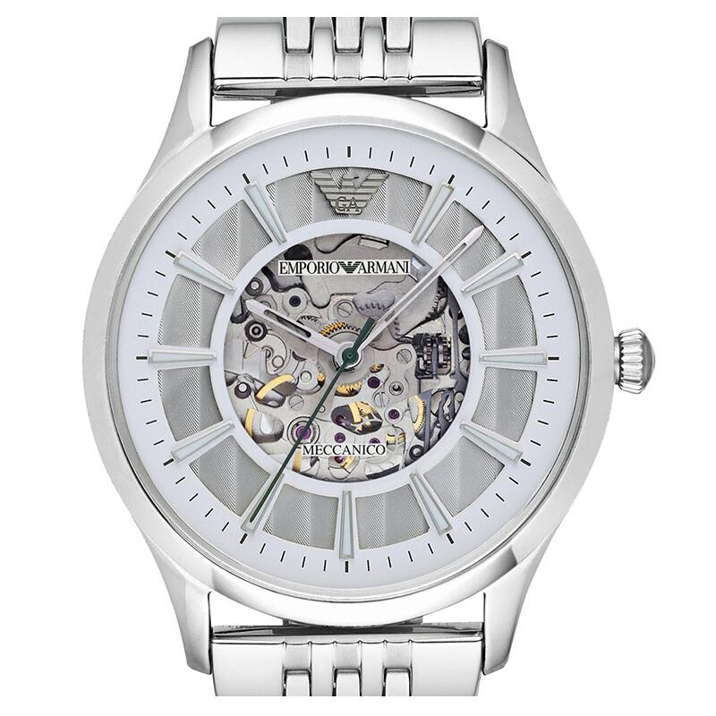 阿玛尼ARMANI 手表男士手表 全自动机械镂空商务男表机械表AR1945