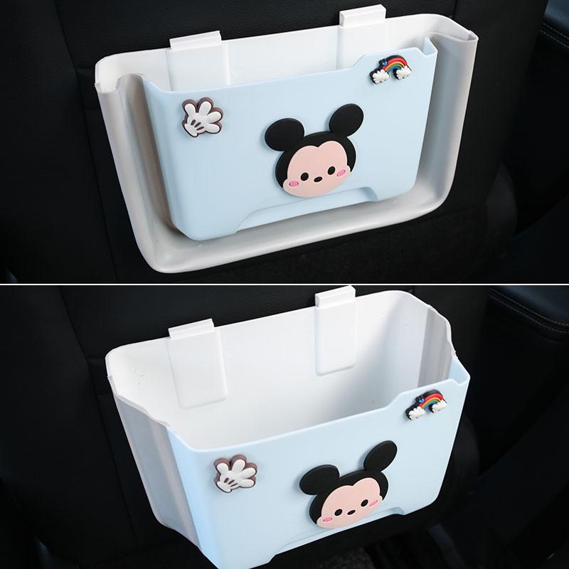 卡通车载垃圾桶女神款可折叠圾桶袋后座椅背挂式创意置物桶收纳盒