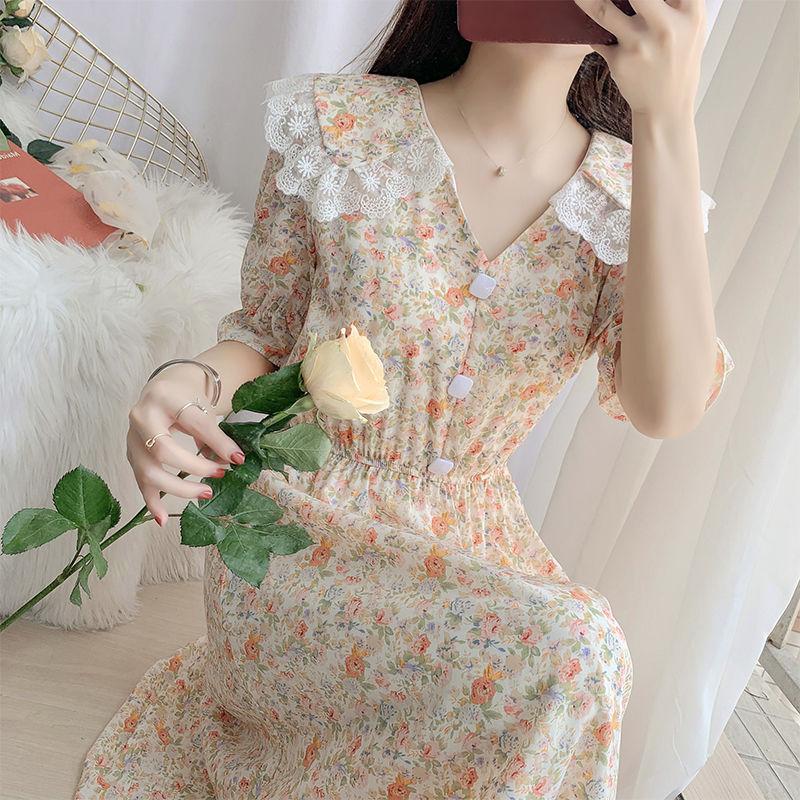 夏季法式气质连衣裙女神范鱼尾裙子2021新款时尚显瘦气质衬衫裙潮