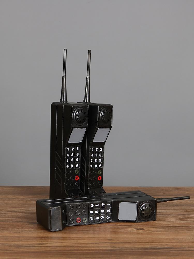 摄影装饰年代道具大哥表演怀旧复古摆件 80 橱窗仿真老式模型大手机