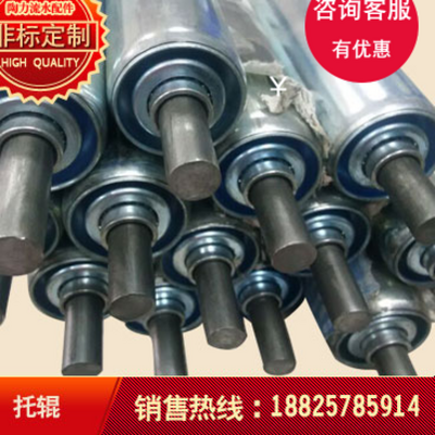Meltblown machine winder idler roller rubber roller roller unpowered conveyor belt assembly line unloading slide rail roller roller