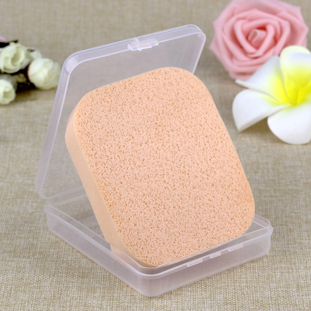 洁面洗脸扑卸妆棉洗脸海棉巾粉扑天然珍珠海藻包邮送盒
