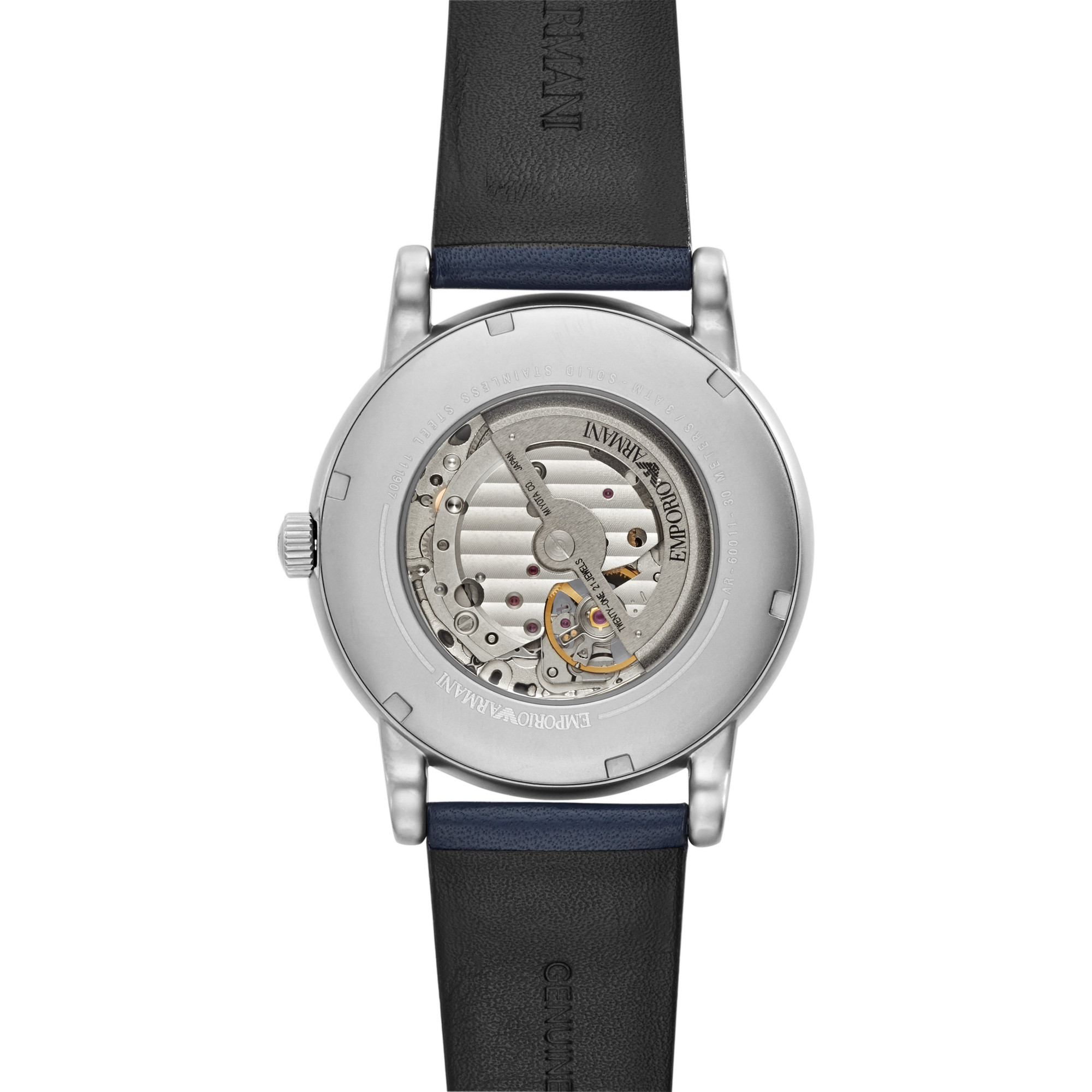 Armani阿玛尼手表男官方正品皮带手表时尚机械男士腕表潮AR60011