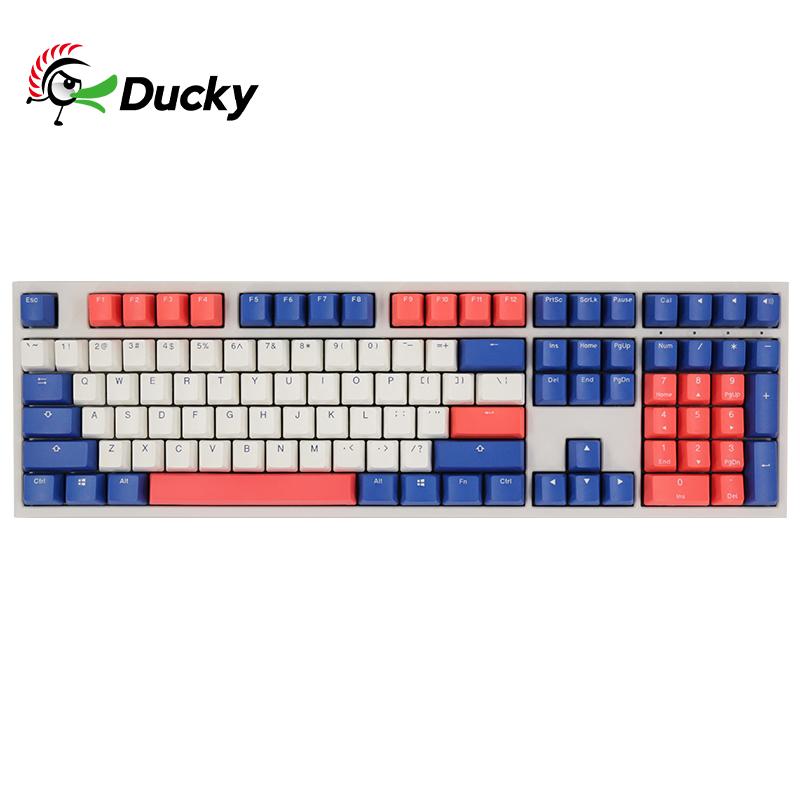 Ducky吉利鸭原魔力鸭One2 机械键盘樱桃红轴电竞游戏办公电脑背光