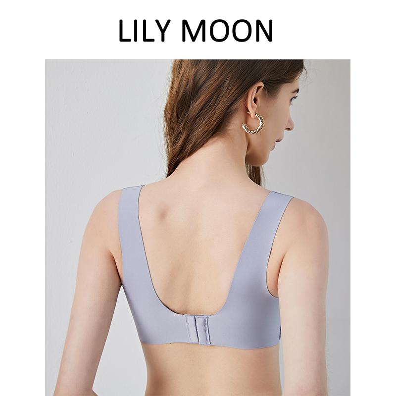 聚拢文胸女无钢圈无痕美背透气背心式小胸舒适胸罩新薄款 Lilymoon