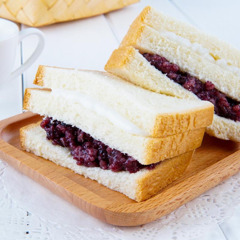 果际线紫米面包5包装夹心奶酪手撕面包糕点营养早餐整箱零食 切片