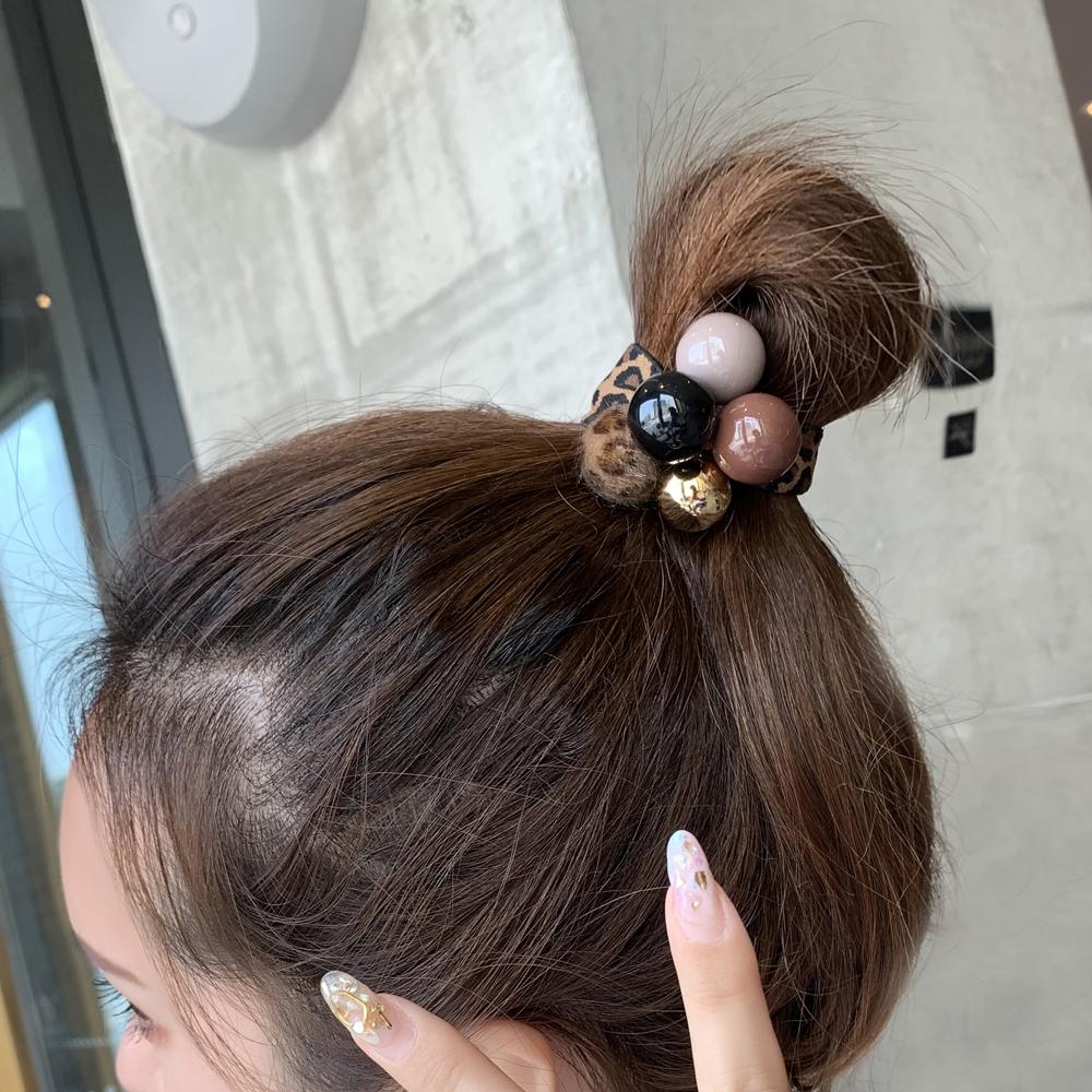 头绳女简约气质韩版可爱发绳网红ins绑头发发圈小香风豹纹宽皮筋