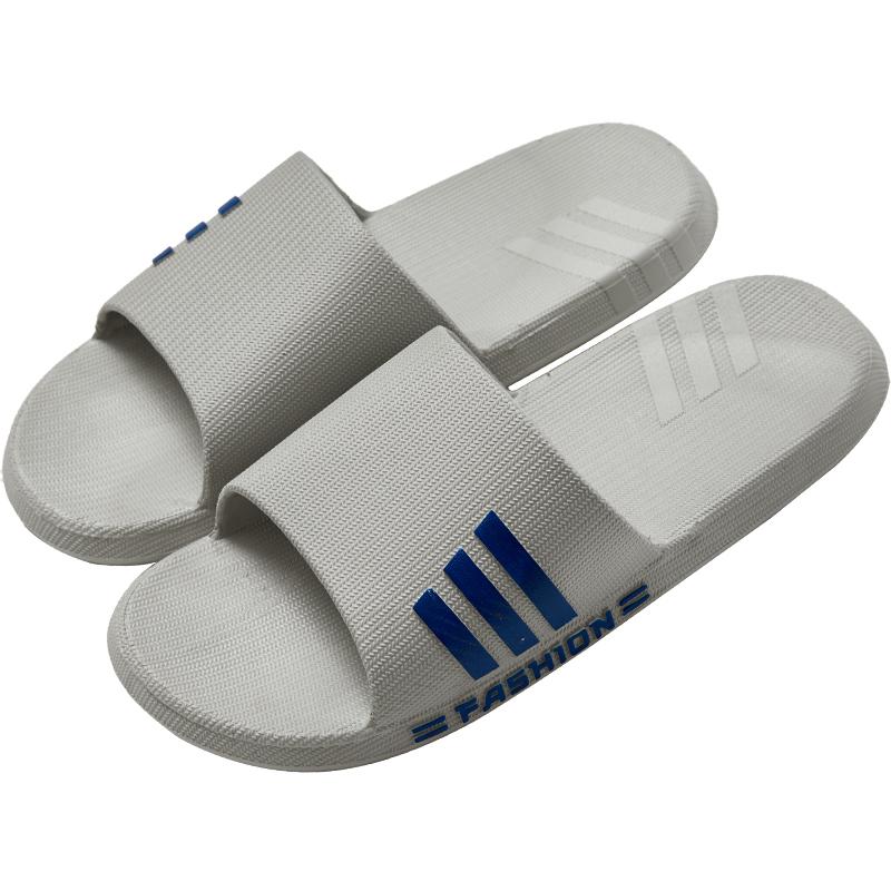 韩版室内外防滑耐磨潮男拖鞋夏季外穿一字塑料厚底透气家用凉拖鞋