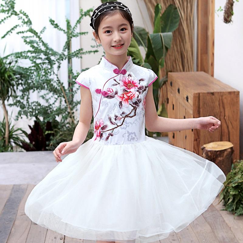 女童汉服春夏连衣裙宝宝夏装中国风儿童唐装旗袍女孩古装超仙纱裙