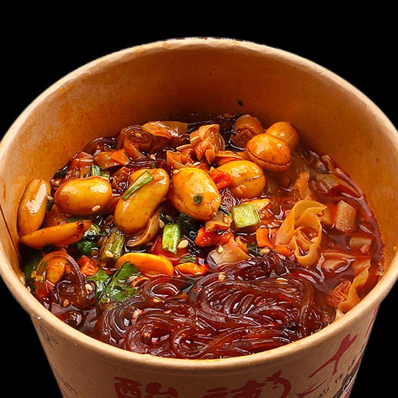 嗨吃家正宗网红酸辣粉夜宵重庆红薯粉丝速食方便面正品6桶装整箱
