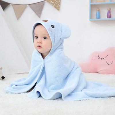 婴儿浴巾带帽斗篷非纯棉初生速干宝宝洗澡用品新生儿童毛巾冬浴袍