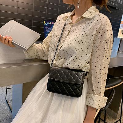 小香风格包包女2019新款韩版少女斜挎菱格包港风链条单肩迷你小包