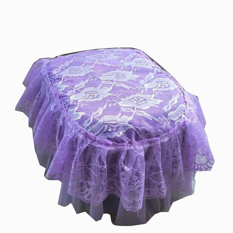 蕾丝简约电饭锅帘防尘罩 电饭煲布盖巾欧式盖巾厨房圆形电器家用