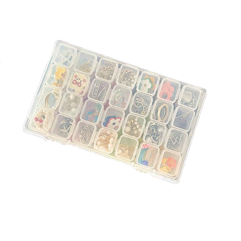 透明防尘分隔塑料收纳盒便携耳环收纳神器盒子小巧防氧化首饰盒 No.4