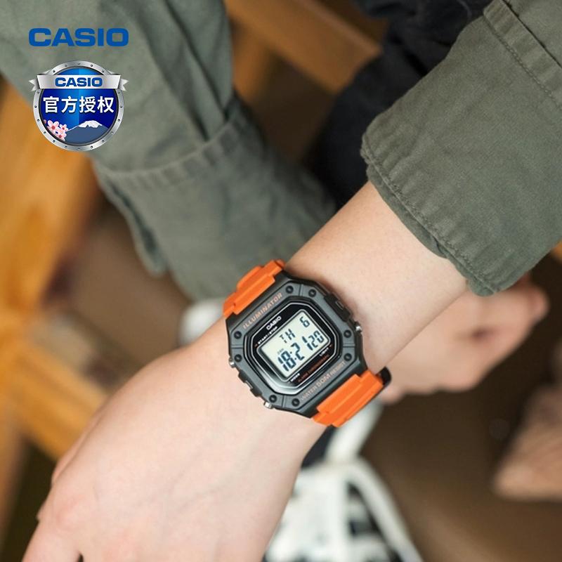 2 217 S 218H W 卡西欧手表正品表小方块运动防水电子复古男 casio